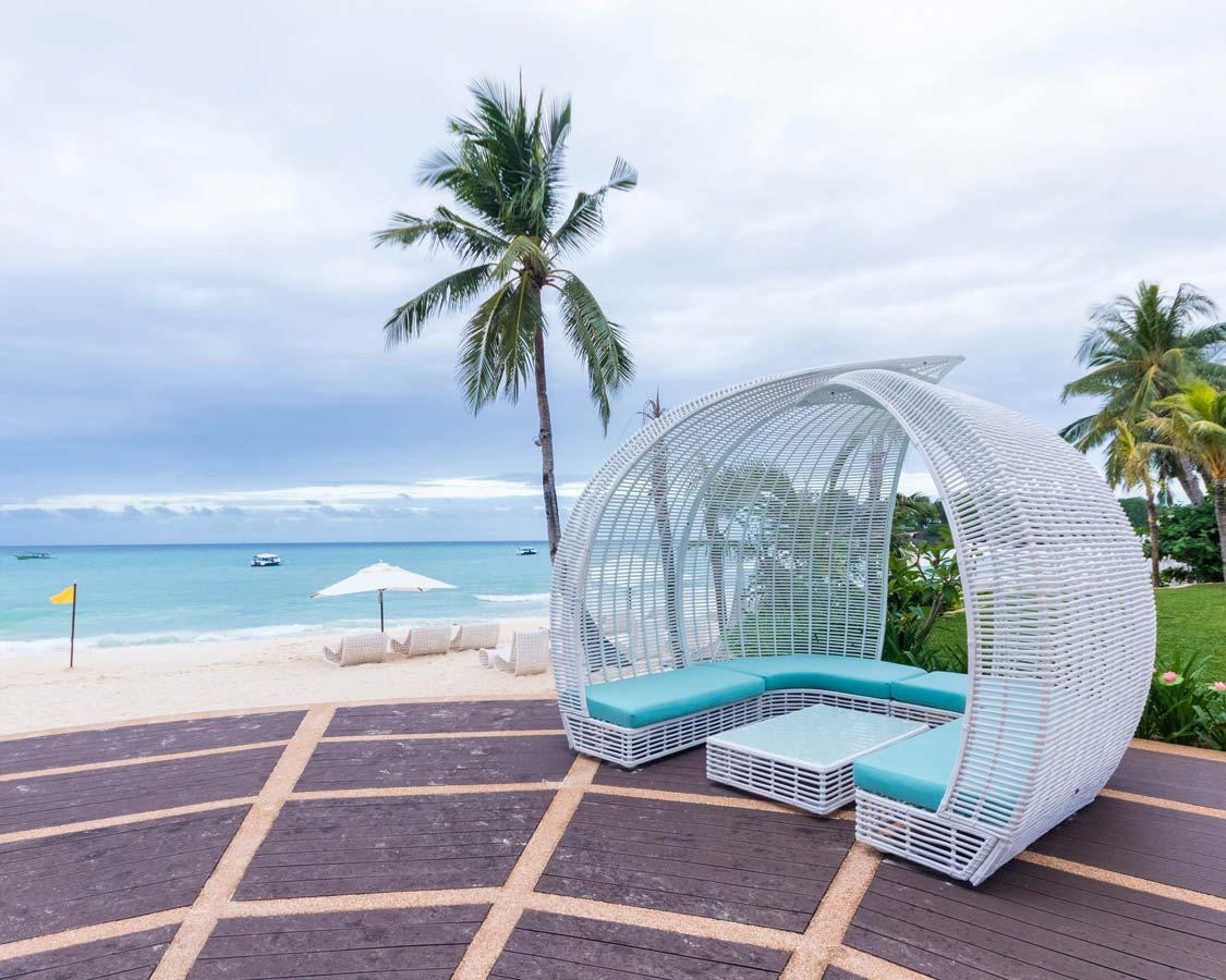 Beachfront lounging at Movenpick Boracay Spa and Resort