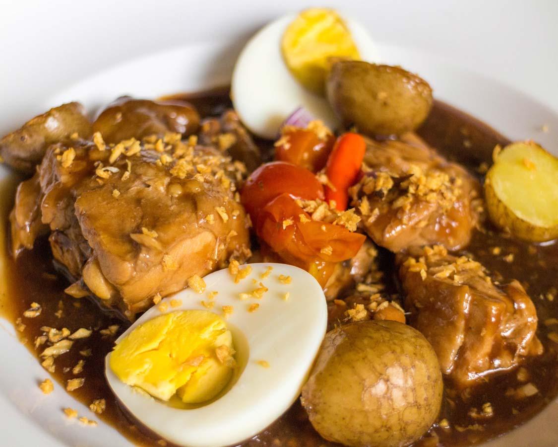 Philippino Chicken adobo served at the Movenpick Boracay hotel