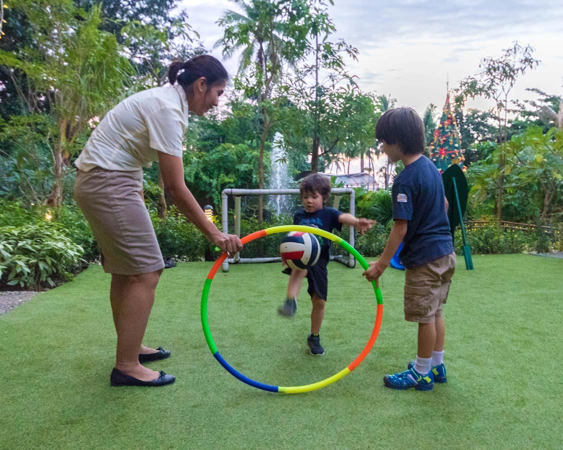 children at kids club at Movenpick Boracay hotel