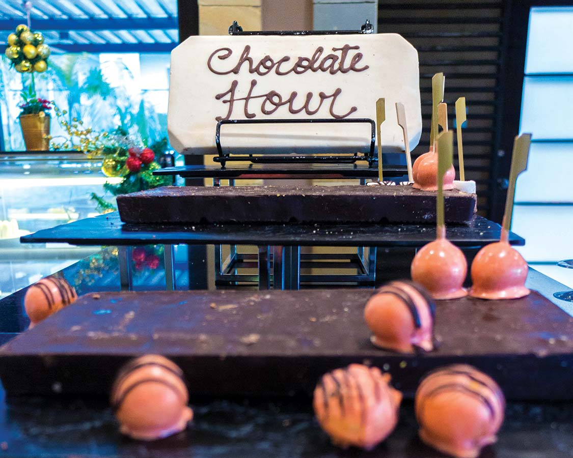 Chocolate Hour at The Cafe in the Movenpick Boracay hotel