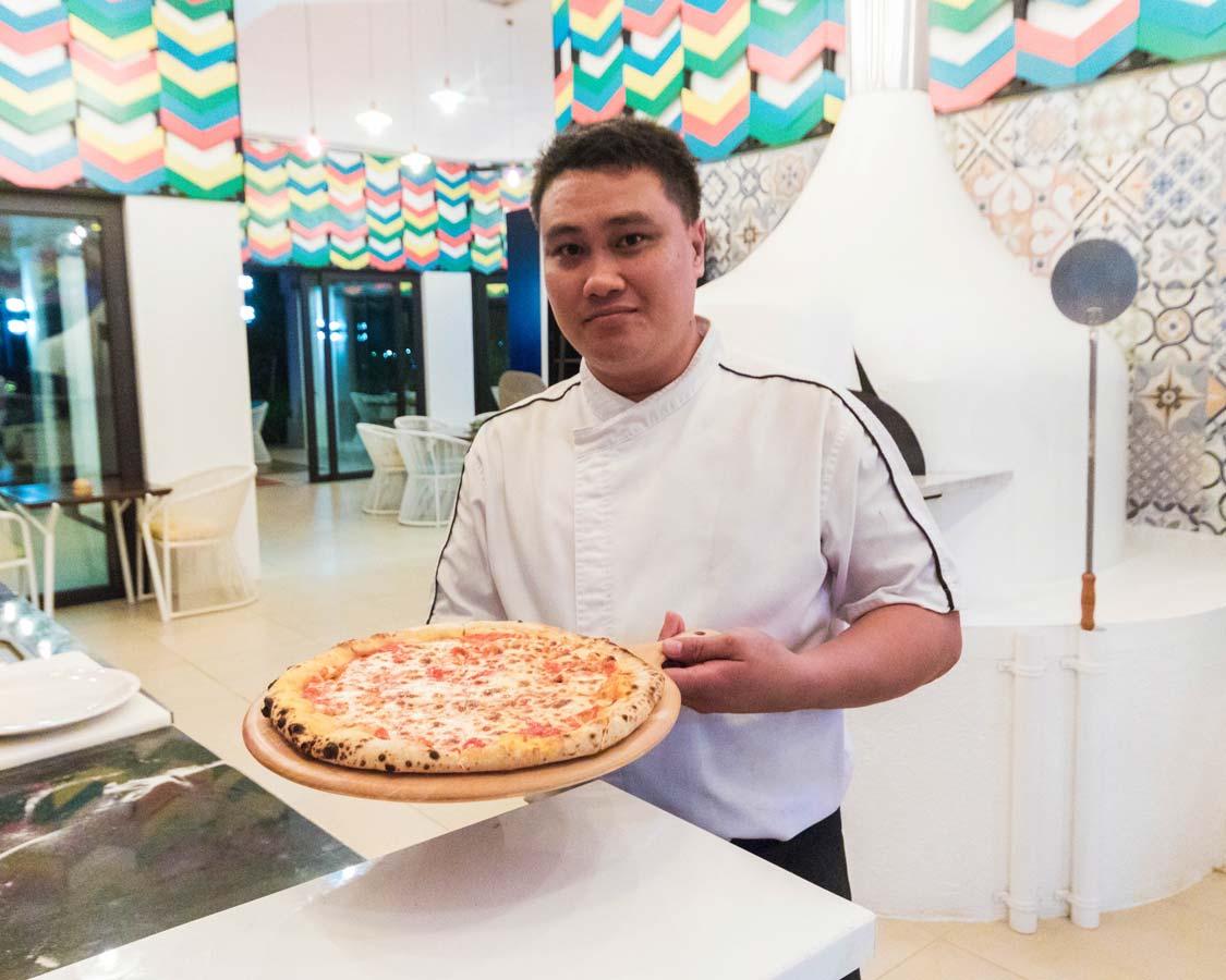 Chef at Liguzzano restaurant at the Movenpick Boracay hotel