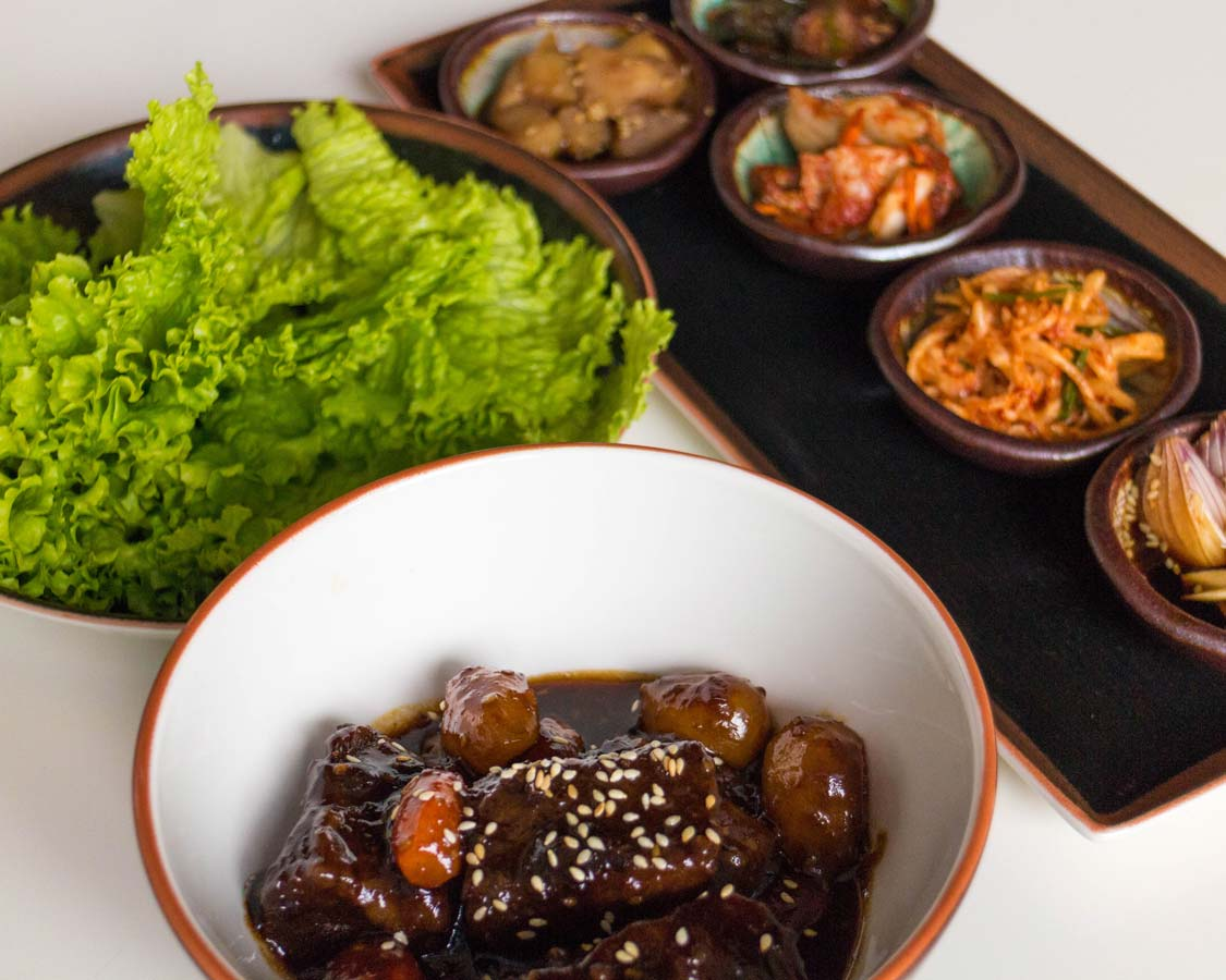 Korean bbq meal served at the Movenpick Boracay hotel