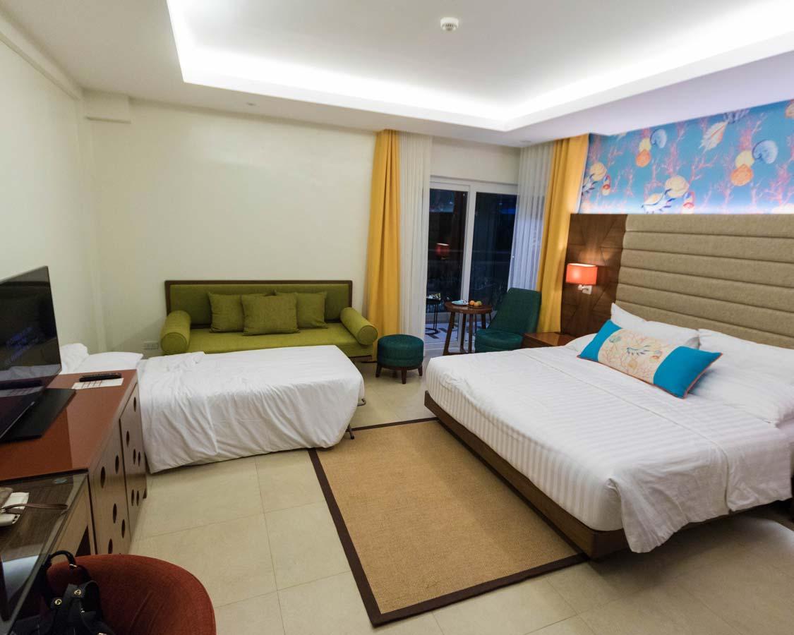 Premier Seaview room at the Movenpick Boracay hotel