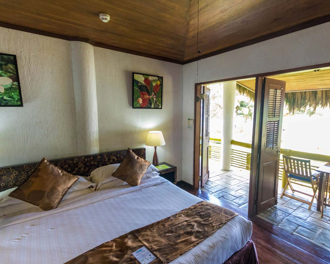 Bedroom at the Daluyon Beach and Mountain Resort Puerto Princesa Philippines