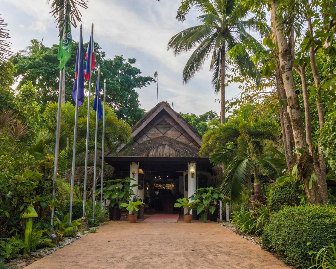 Entrance to Daluyon Beach and Mountain Resort in Puerto Princesa Philippines