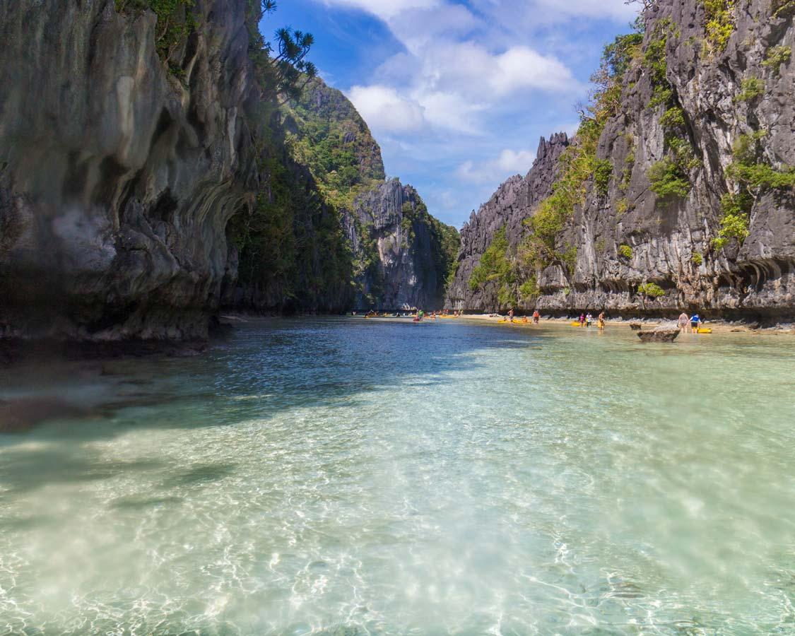 Small lagoon in El Nido Philippines