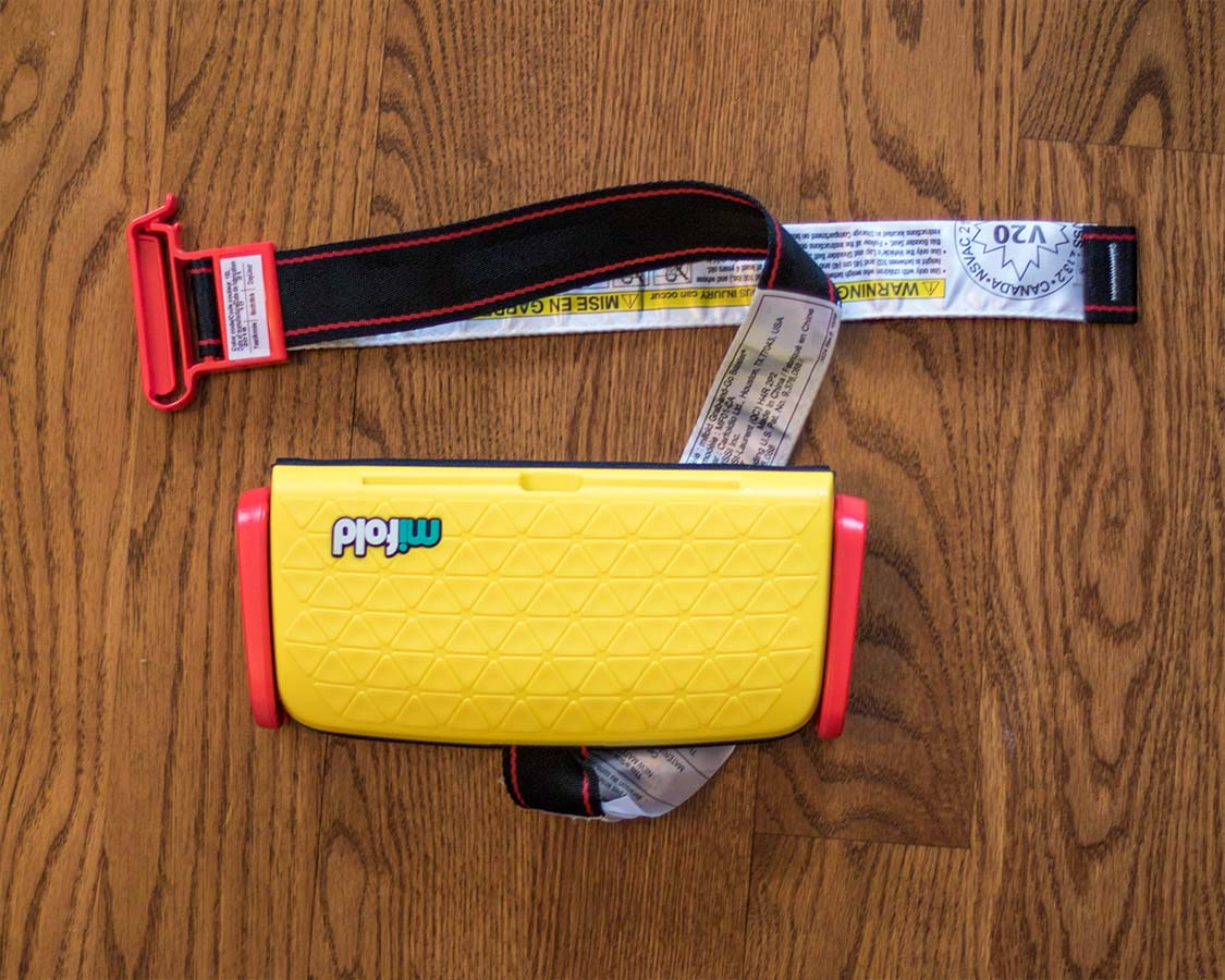 Mifold booster seat for travel small