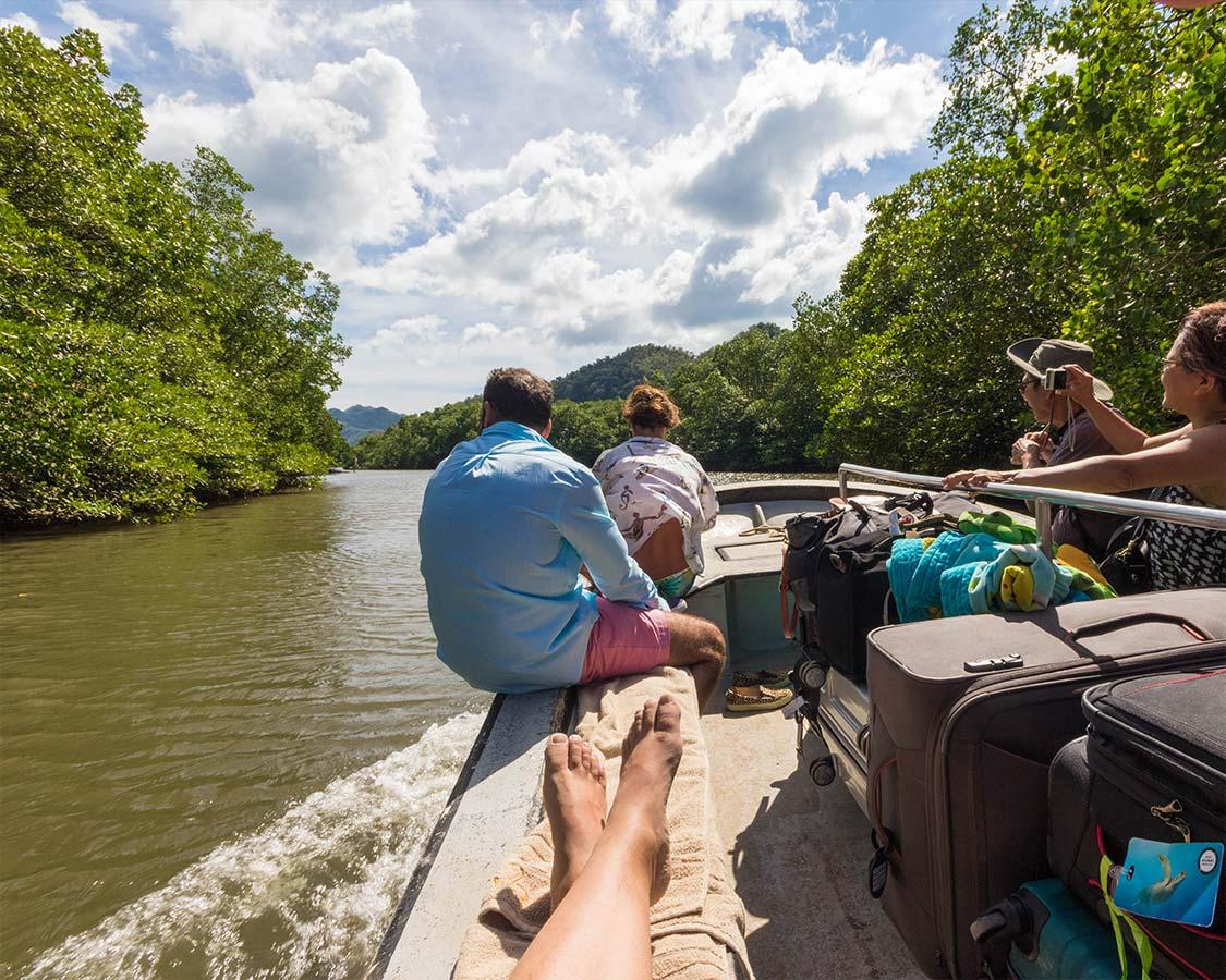 Boat ride to Sangat Dive Resort Coron