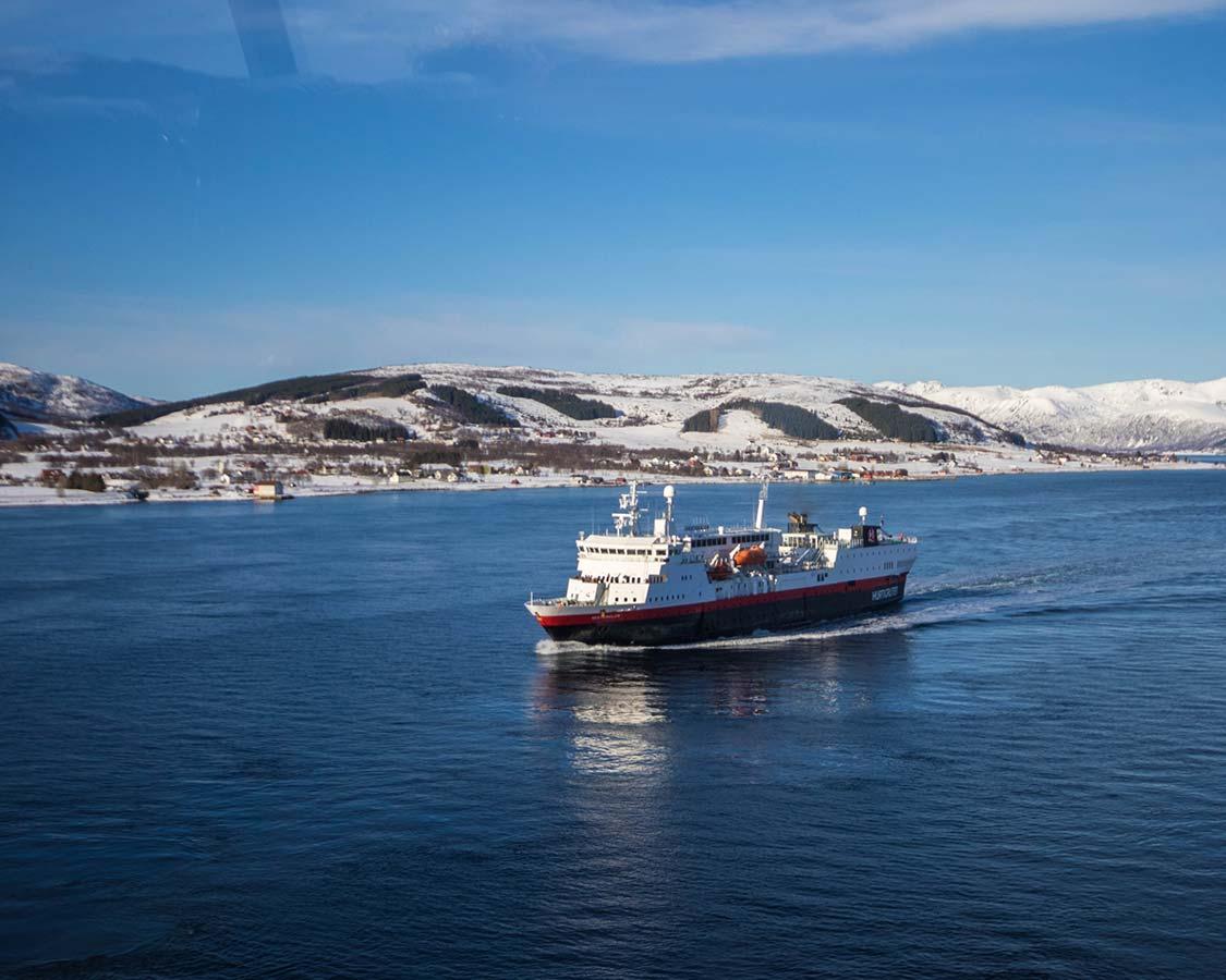 Hurtigruten MS Vesteralen in Sortland Norway
