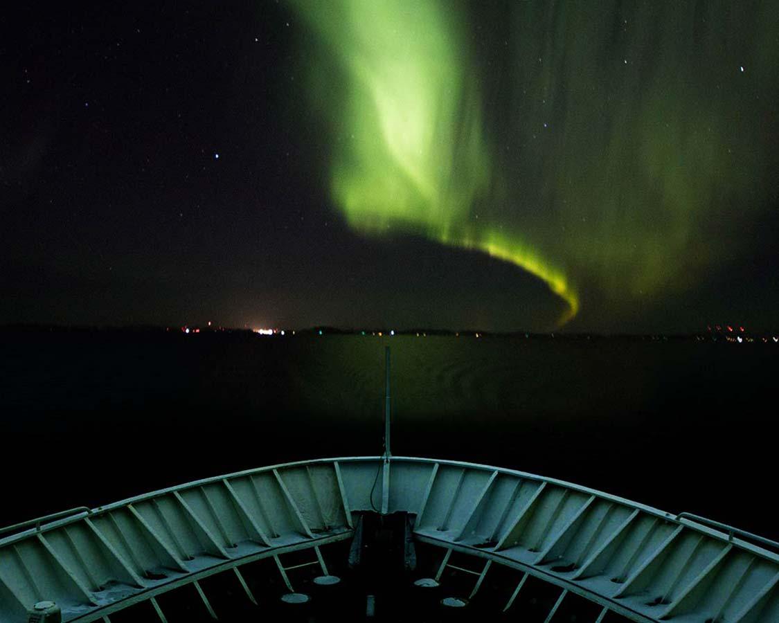 Northern Lights on Norway Hurtigruten cruise