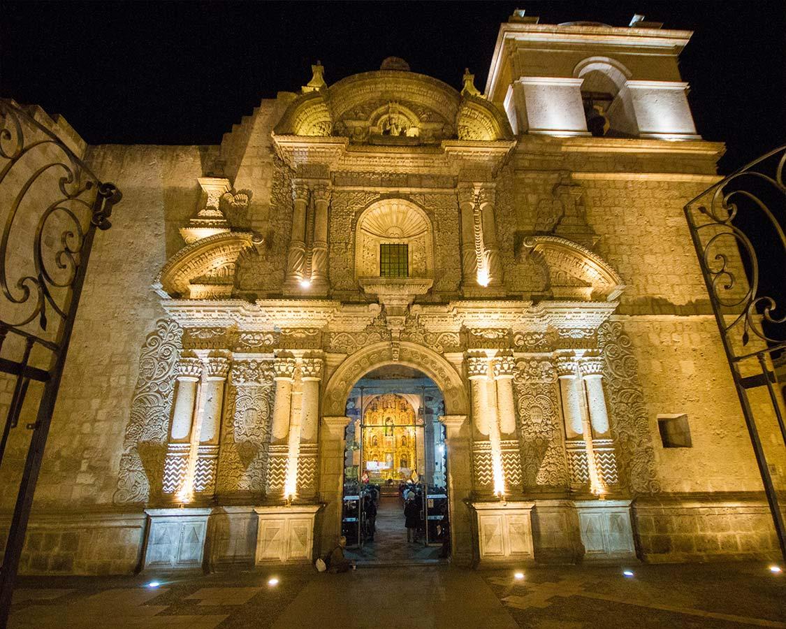 Iglesia de La Comania in Arequipa Peru