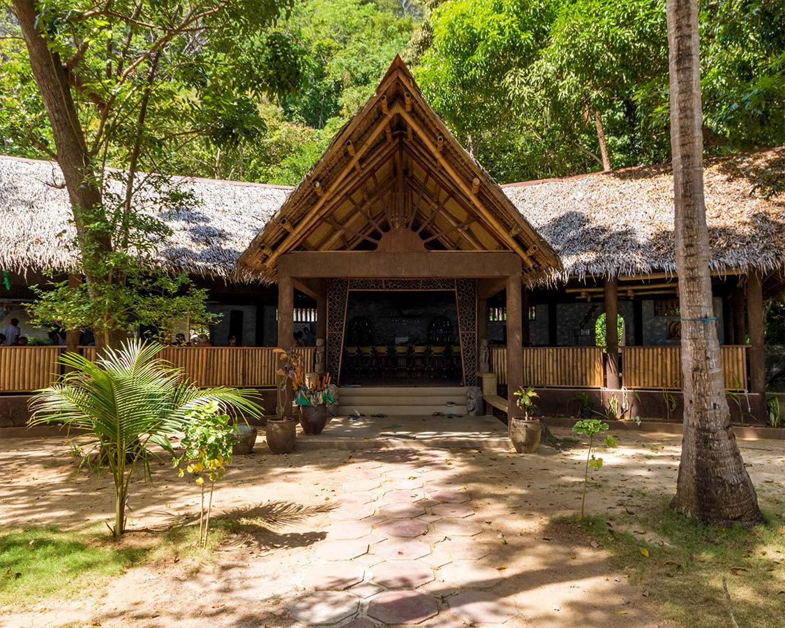 Lobby and Restaurant of Sangat Dive Resort in Coron Philippines