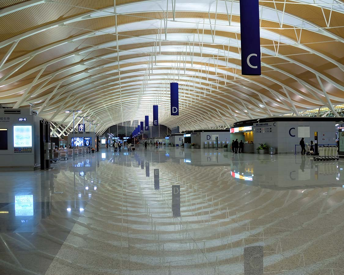 Shanghai Pudong International Airport arrivals area