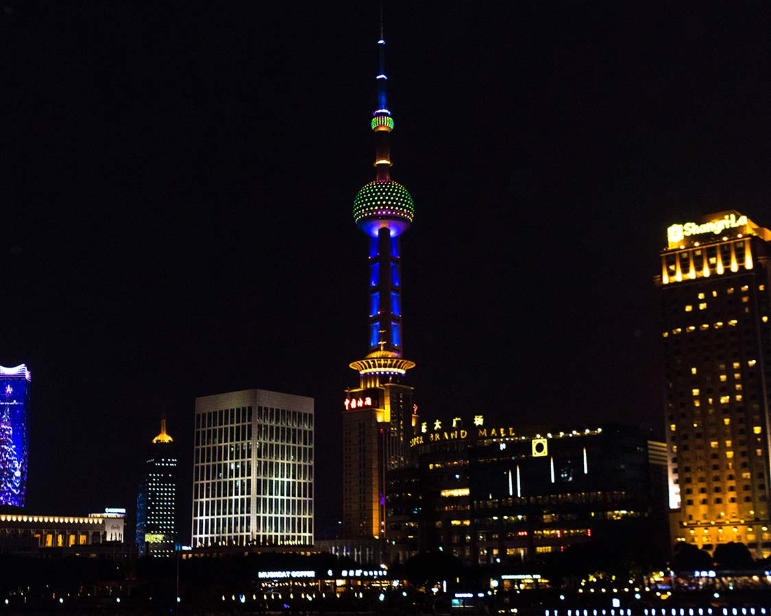 Shanghai Skyline from a Huangpu River Cruise Ship