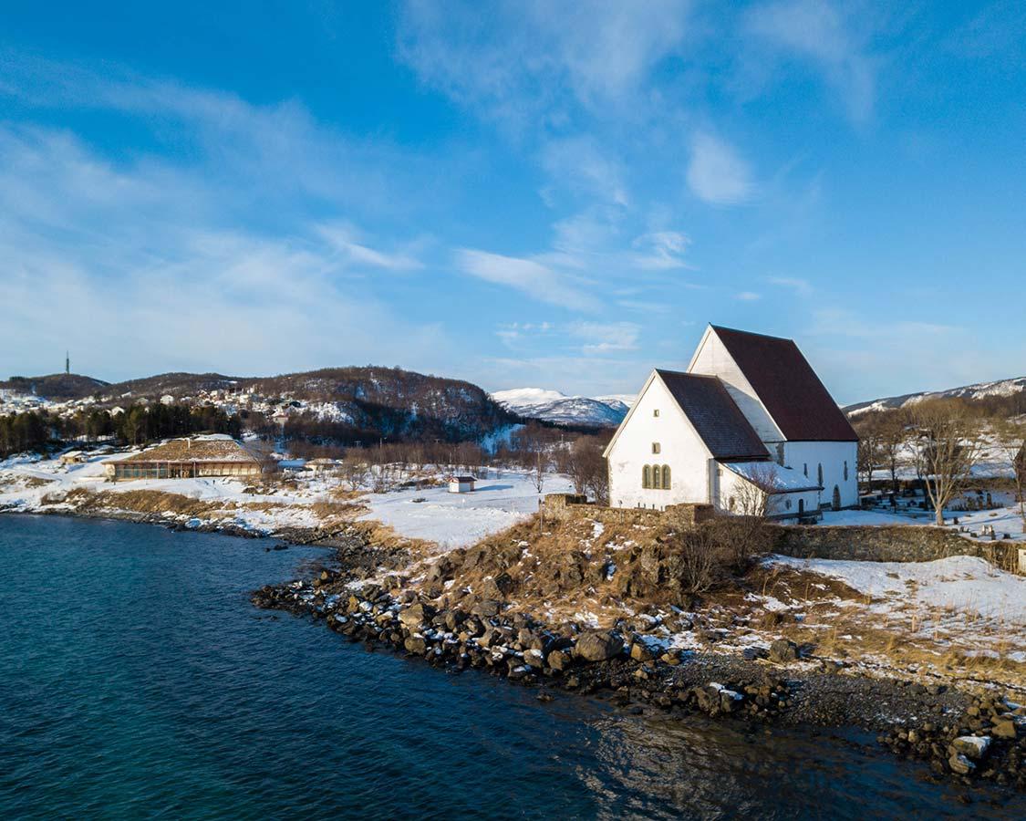 Trondones Church in Harstad Norway