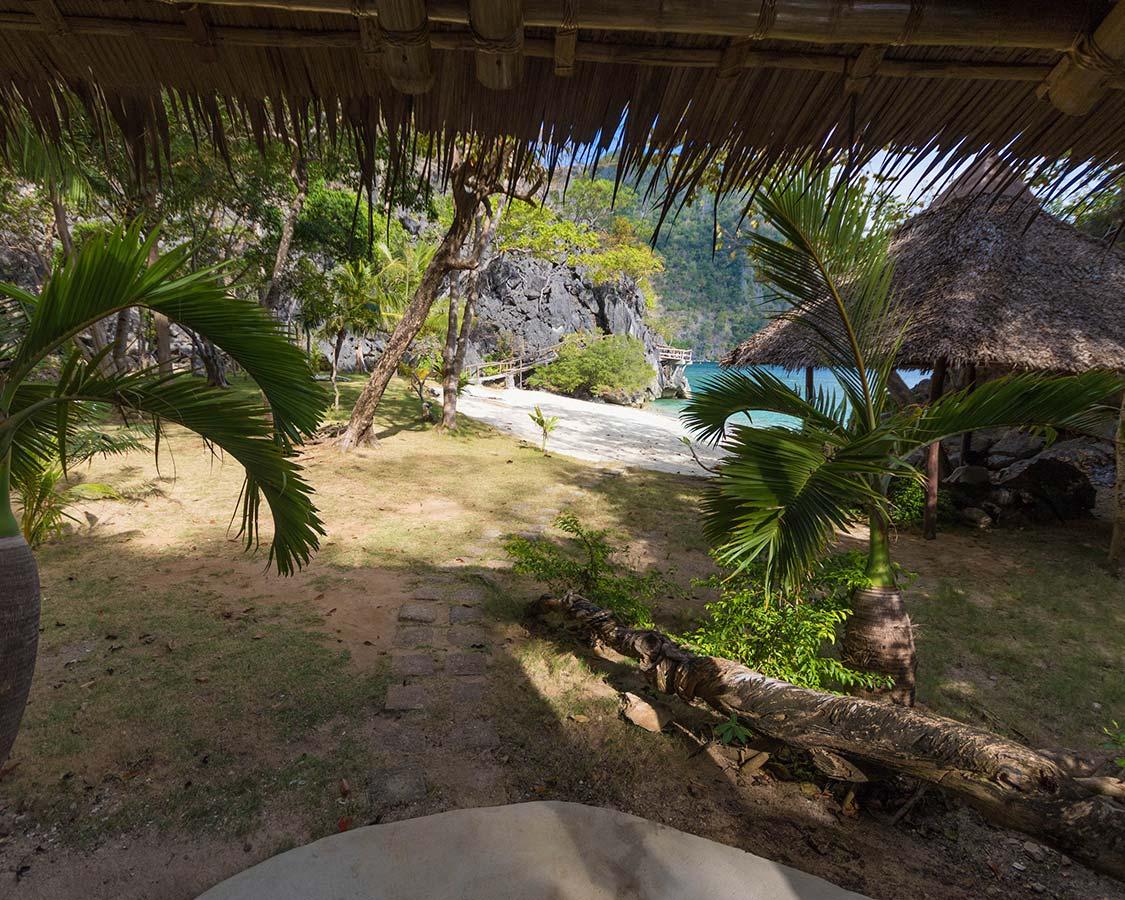View from the Sangat Island Dive Resort Villa in Coron Palawan