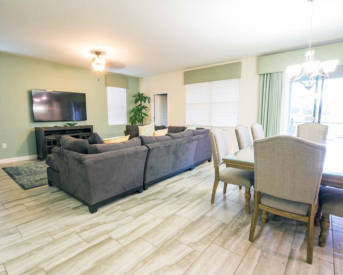 Kissimmee Vacation Home Living Area
