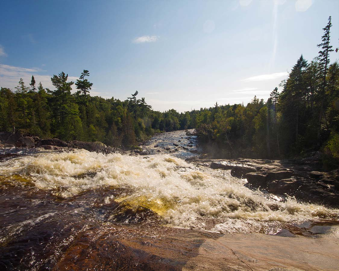 Waterfall near Pinguisibi Trail in Lake Superior Provincial Park
