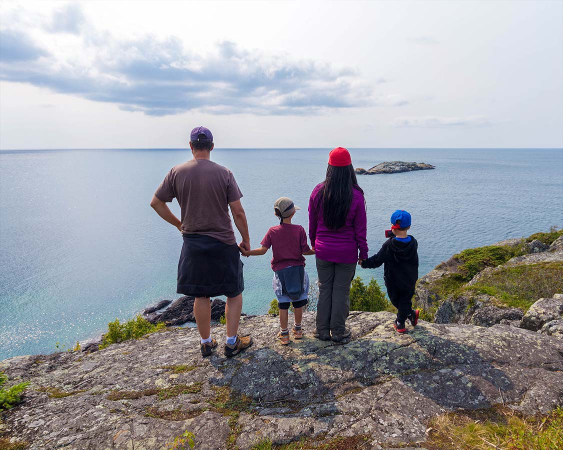Family camping in Ontario at Pukaskwa National Park