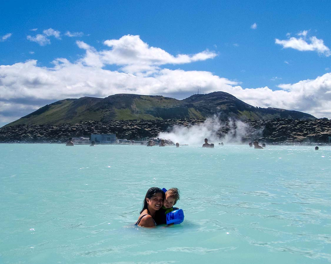 Iceland With Kids Blue Lagoon Geothermal Pool