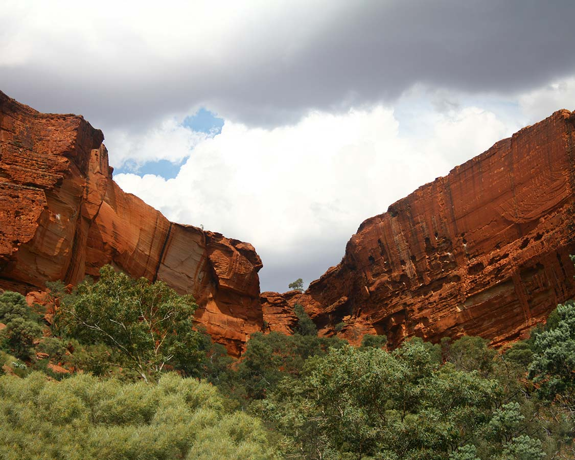 Kings Canyon on the Red Center Way Road Trip in Australia