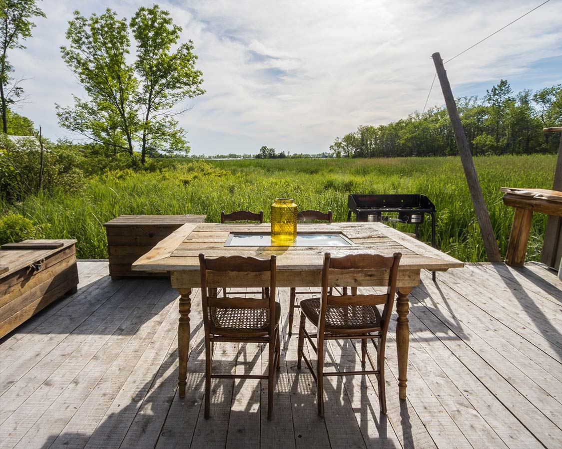 Outdoor Kitchen Glamping Prince Edward County
