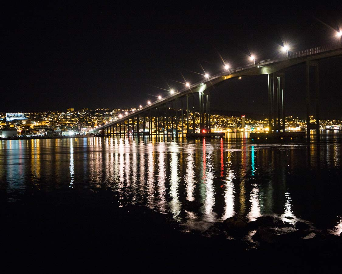 Hurtigruten Excursion Bridge in Tromso Norway