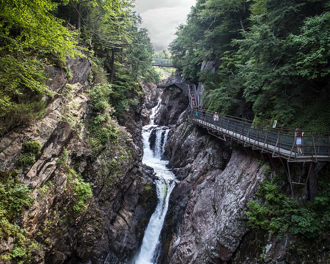 best places to visit in adirondack - High Falls Gorge
