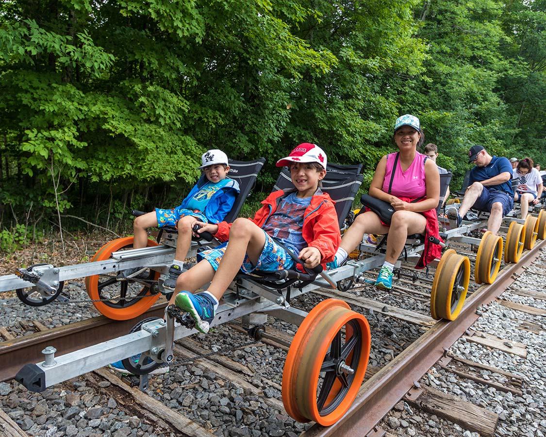 Adirondack Rail Biking With kids