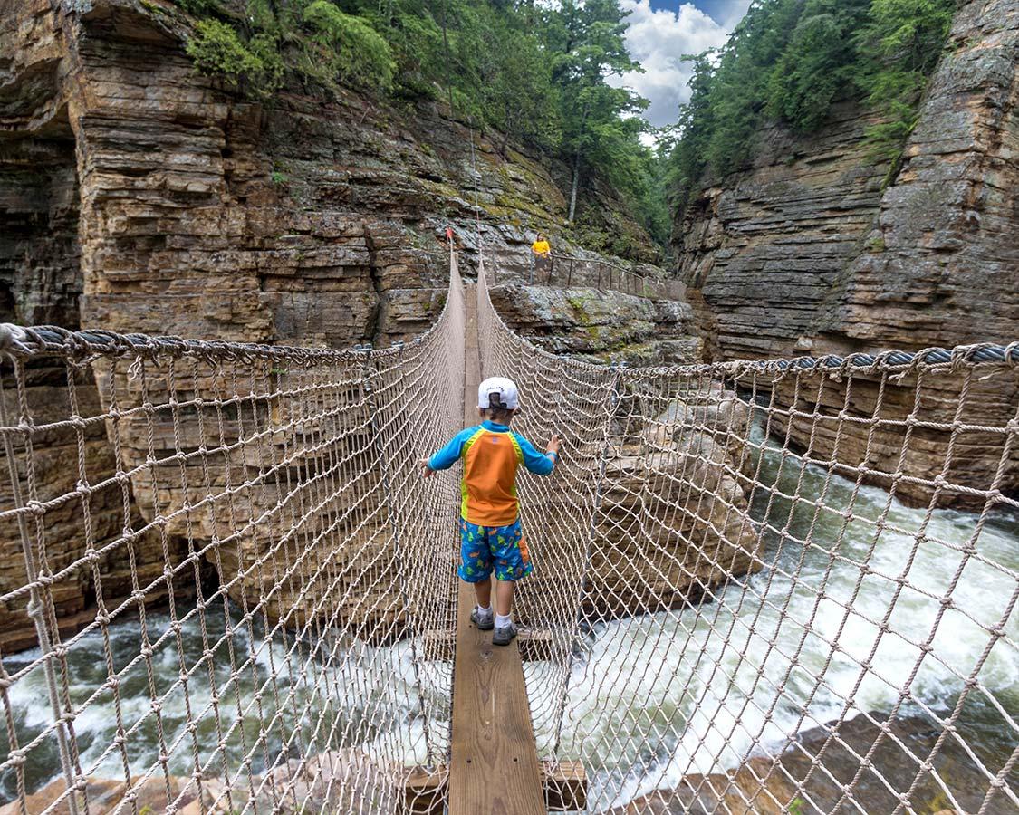 Ausable Chasm Inner Sanctum Trail