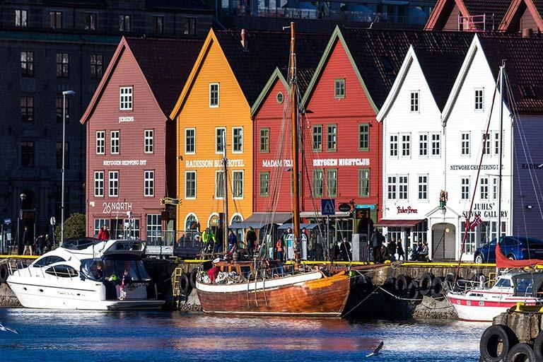 Family travel to Bergen Norway