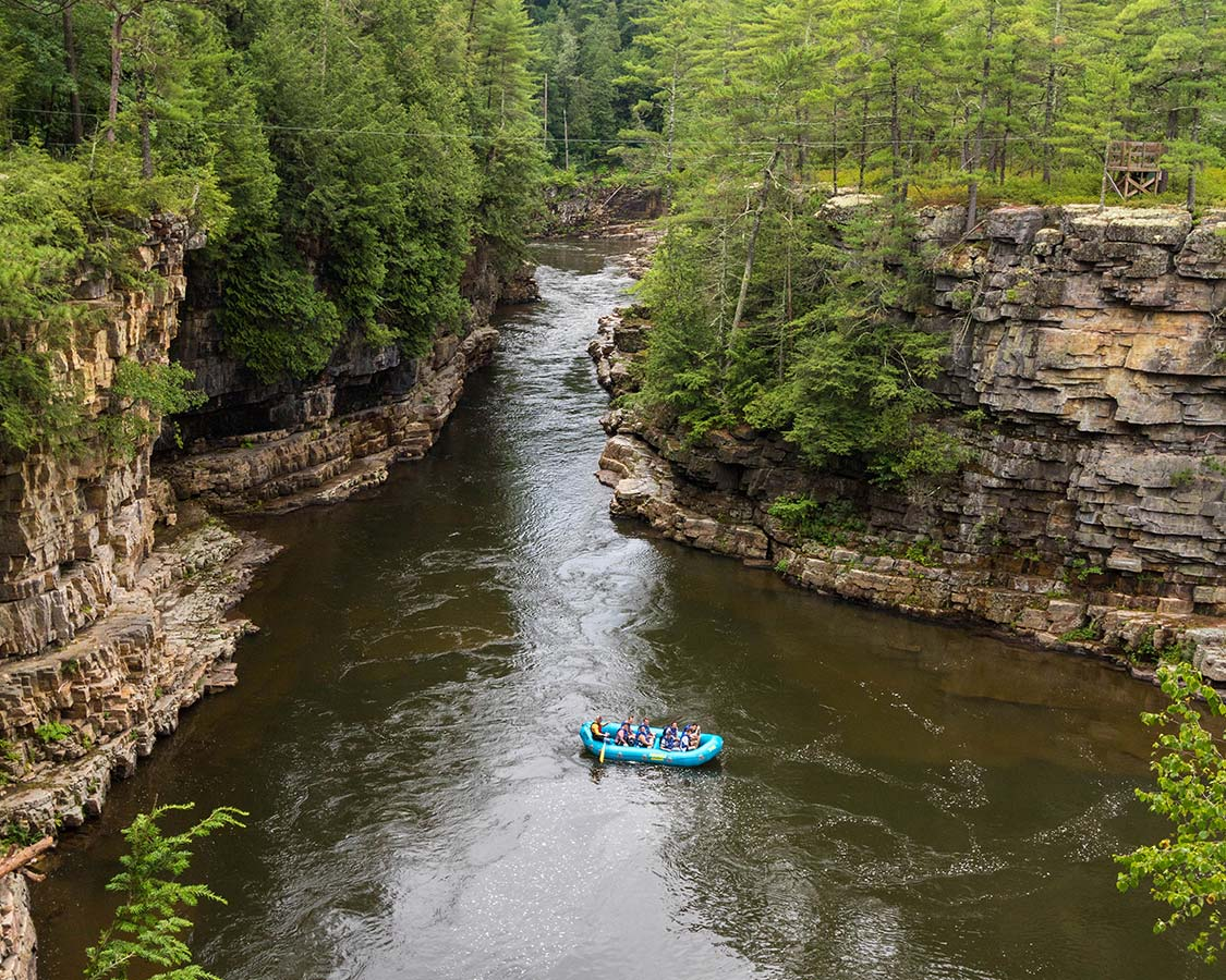 Rafting at Ausable Chasm