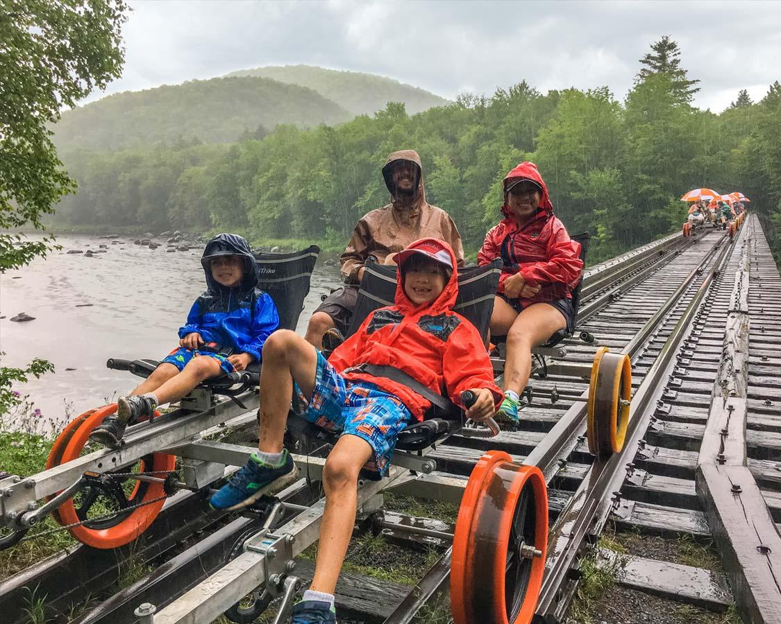 Revolution Things To do in North Creek NY Rail Co Rail Bike Adirondacks
