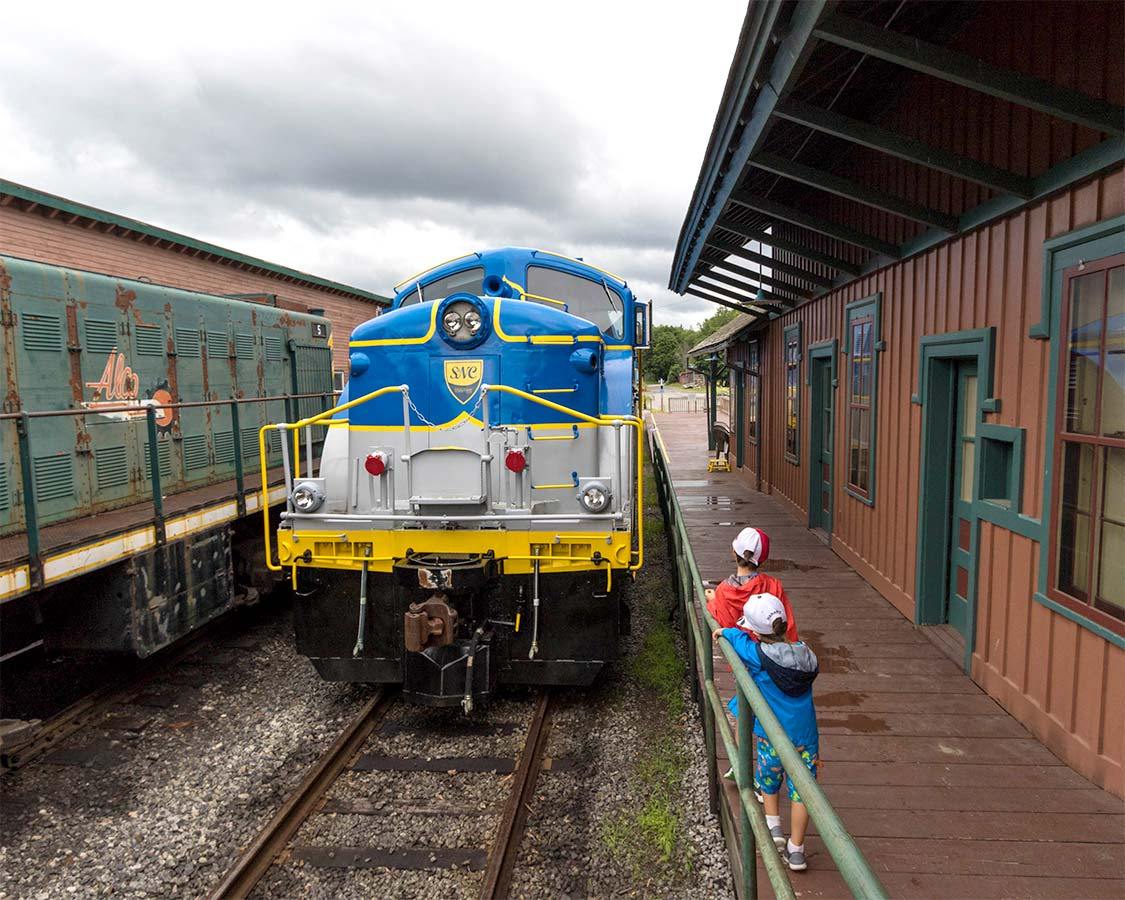 Trains At The North Creek Railroad Station