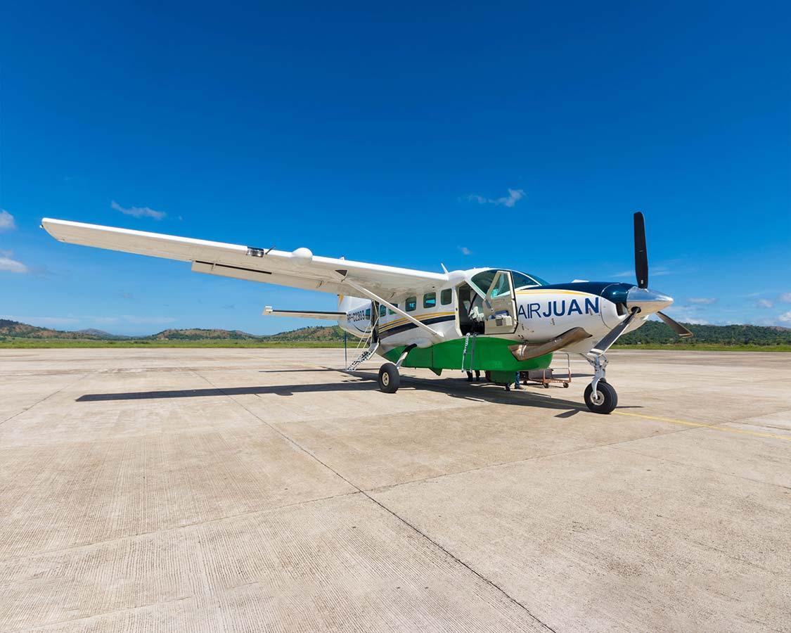 How to get to Coron Island Palawan Air Juan plane
