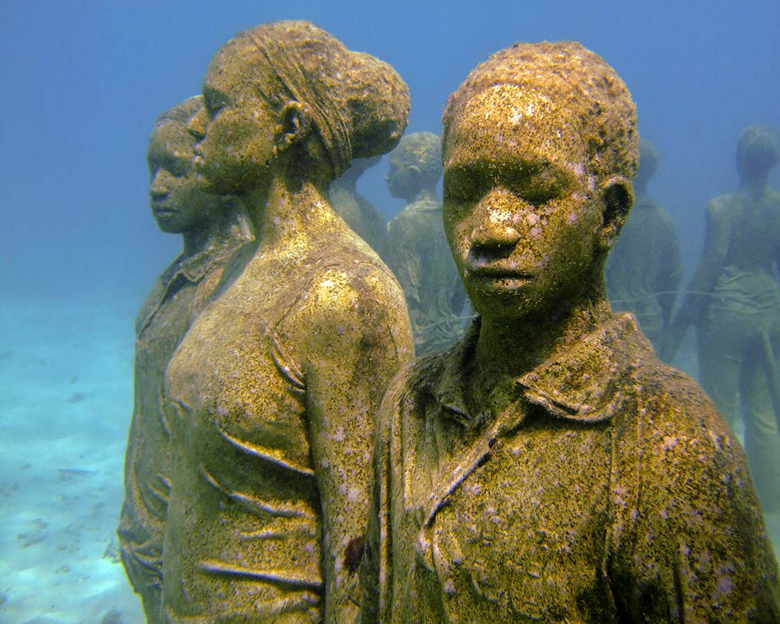 Family dive vacations in Caribbean Grenada Underwater Sculpture Park