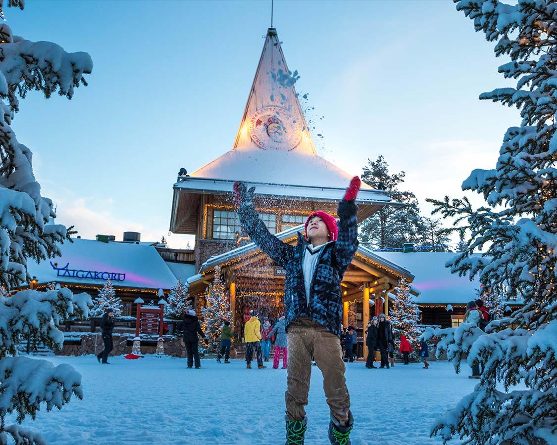 Christmas In Lapland Finland Santa Claus Village Rovaniemi