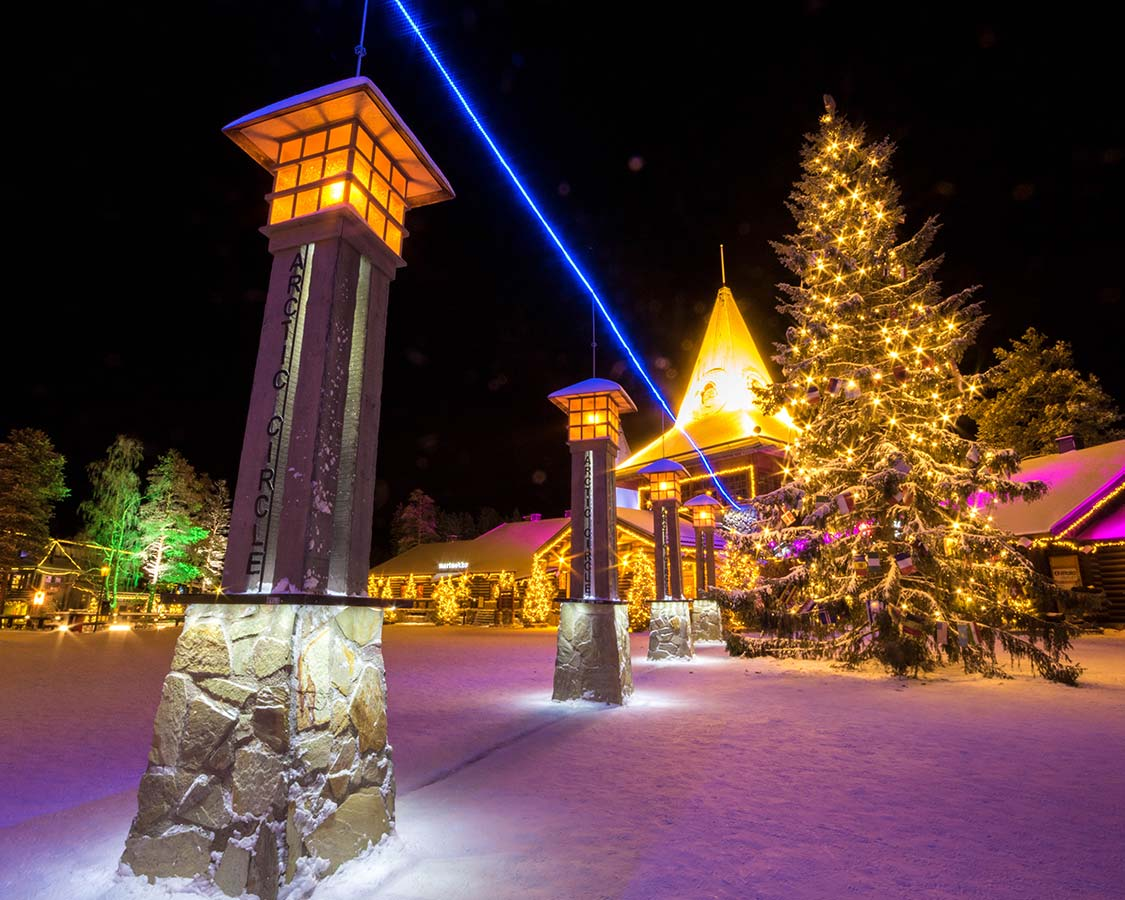 Christmas In Lapland Finland Santa Claus Holiday Village