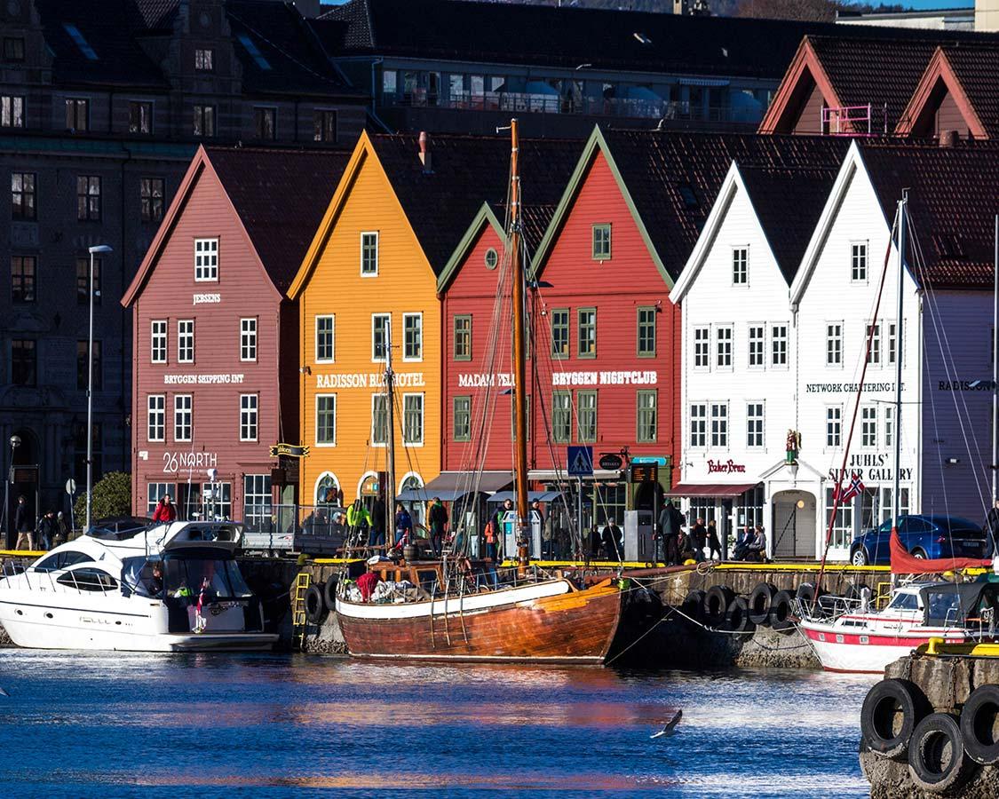 Norway in Winter Bryggen Wharf