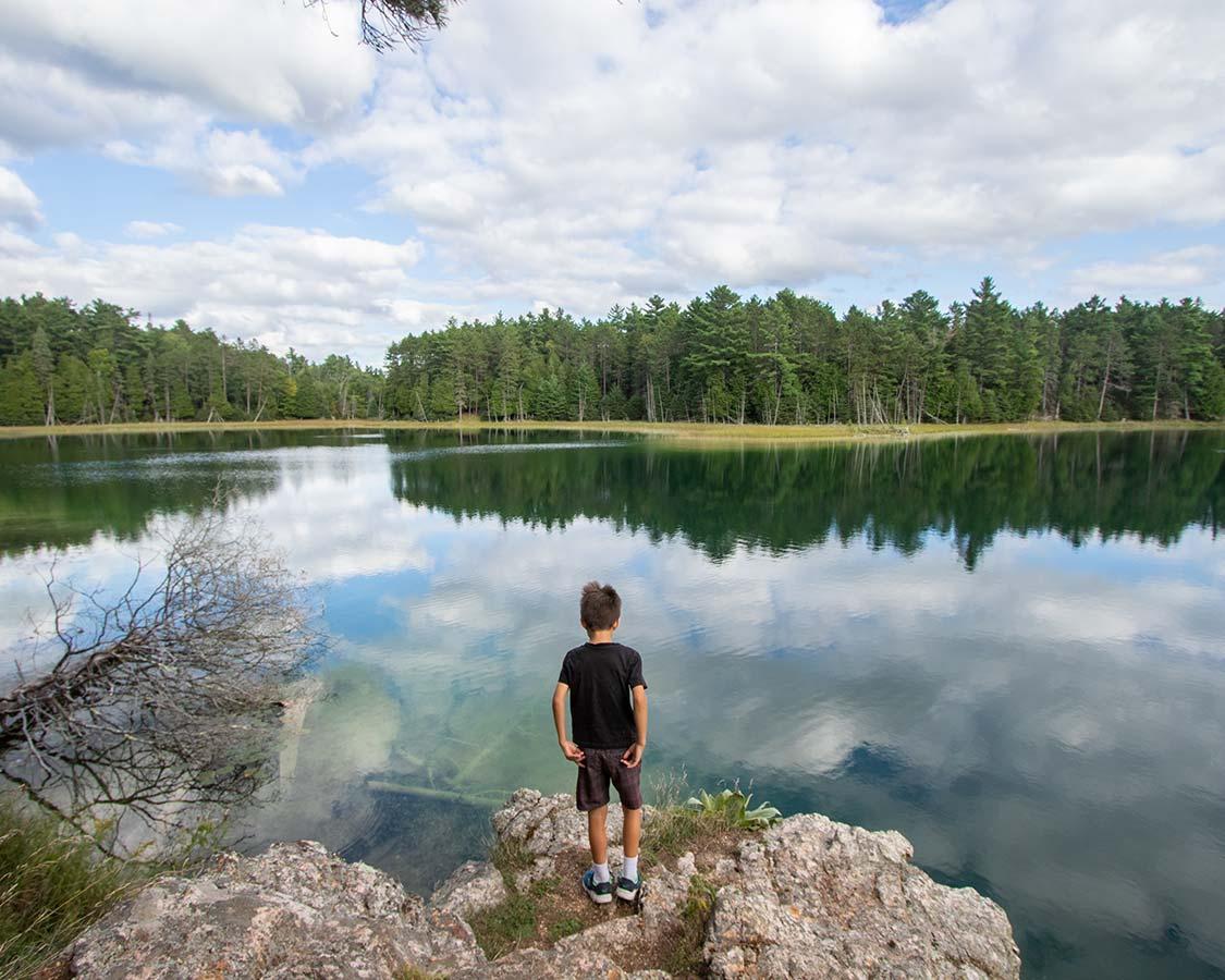 Lake at Petroglyphs Provincial Park