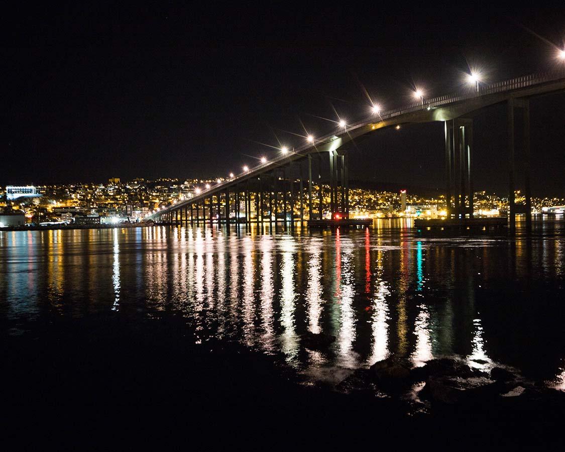Winter In Norway Tromso Bridge