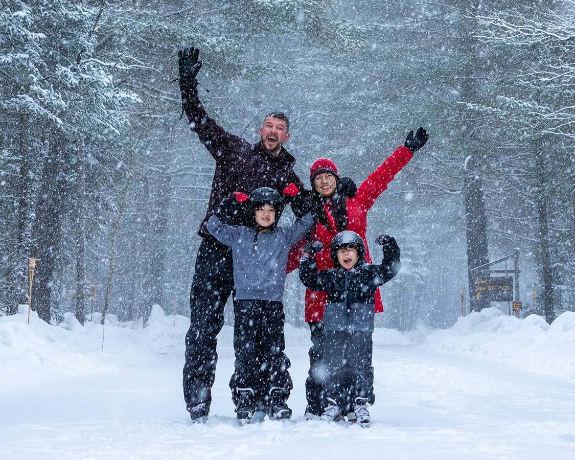 Travel for Adventure Families Skating In Arrowhead Ontario
