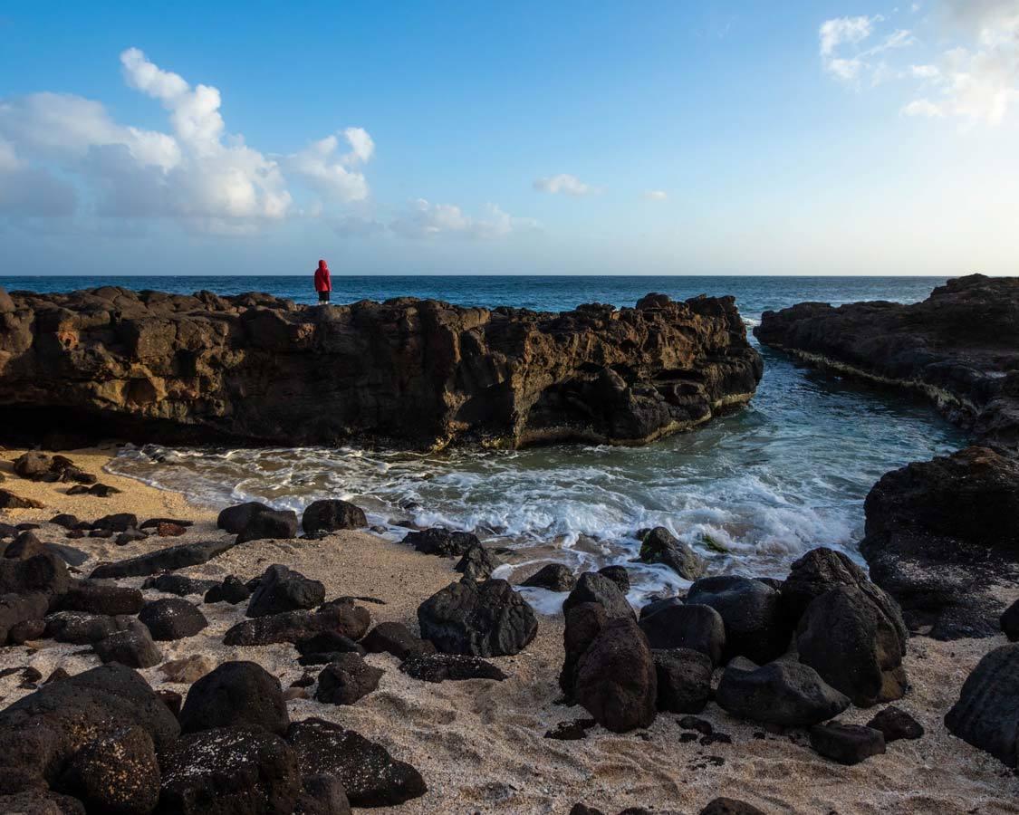 Glass Beach Tidepools In Kauai For Kids