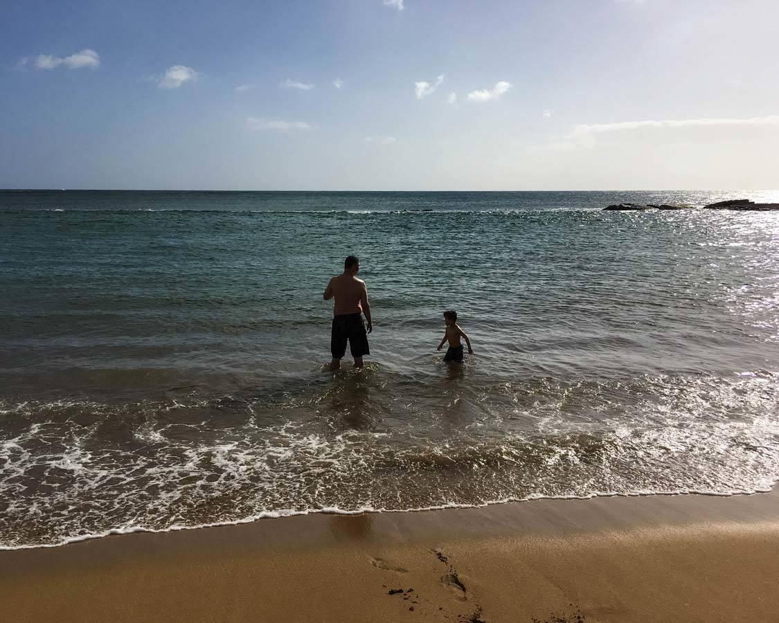 Salt Ponds Beach In Kauai With Kids