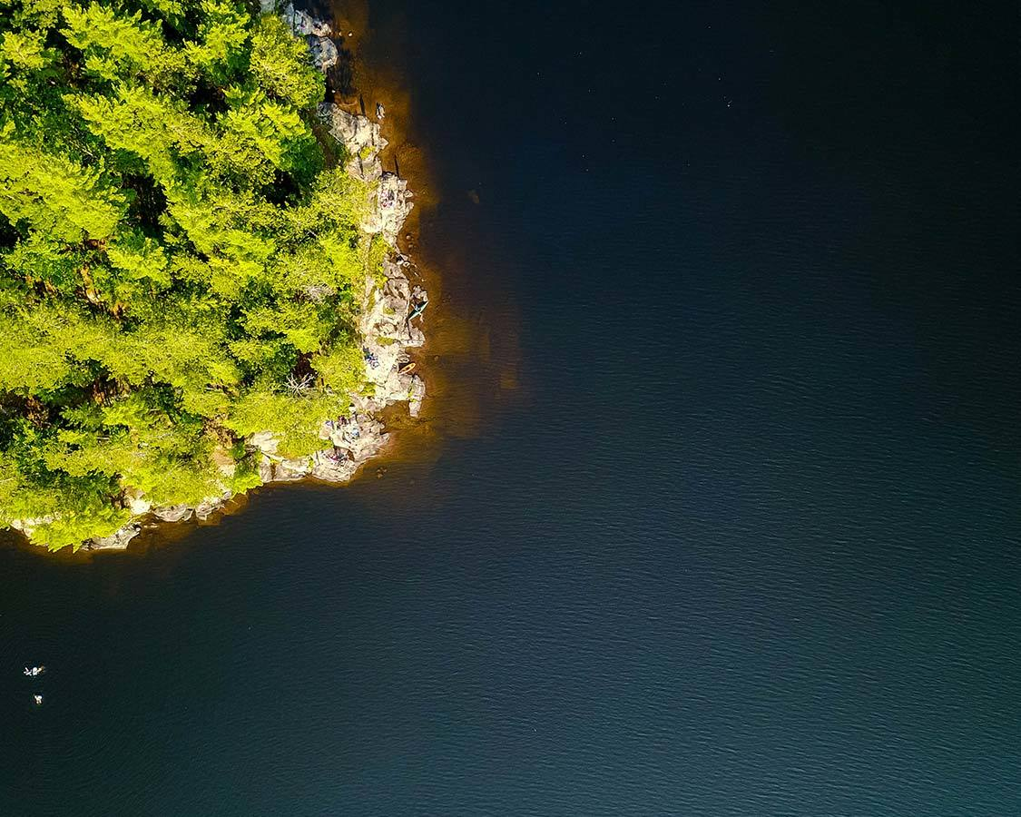 Silent Lake Park shoreline