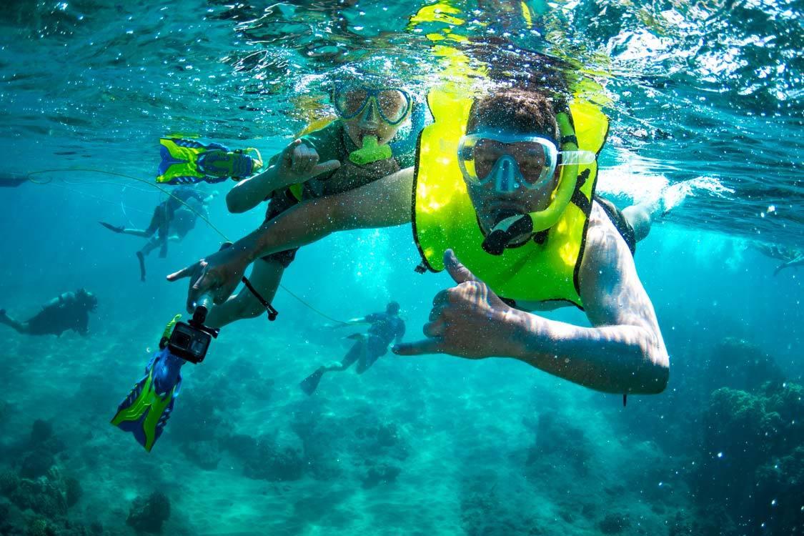 Snorkeling with kids in Kauai