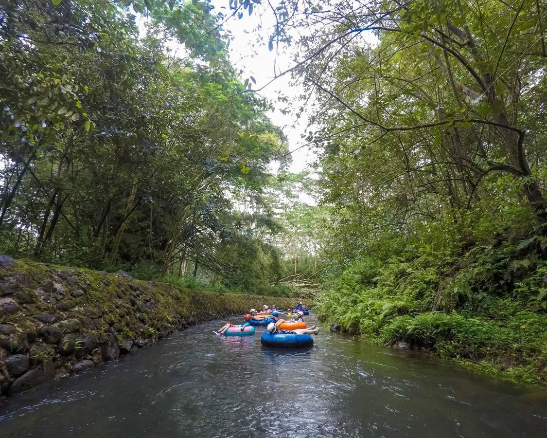 Mountain tubing in Kauai Lazy River
