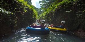 Mountain tubing in Kauai