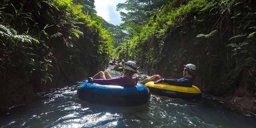Mountain tubing in Kauai