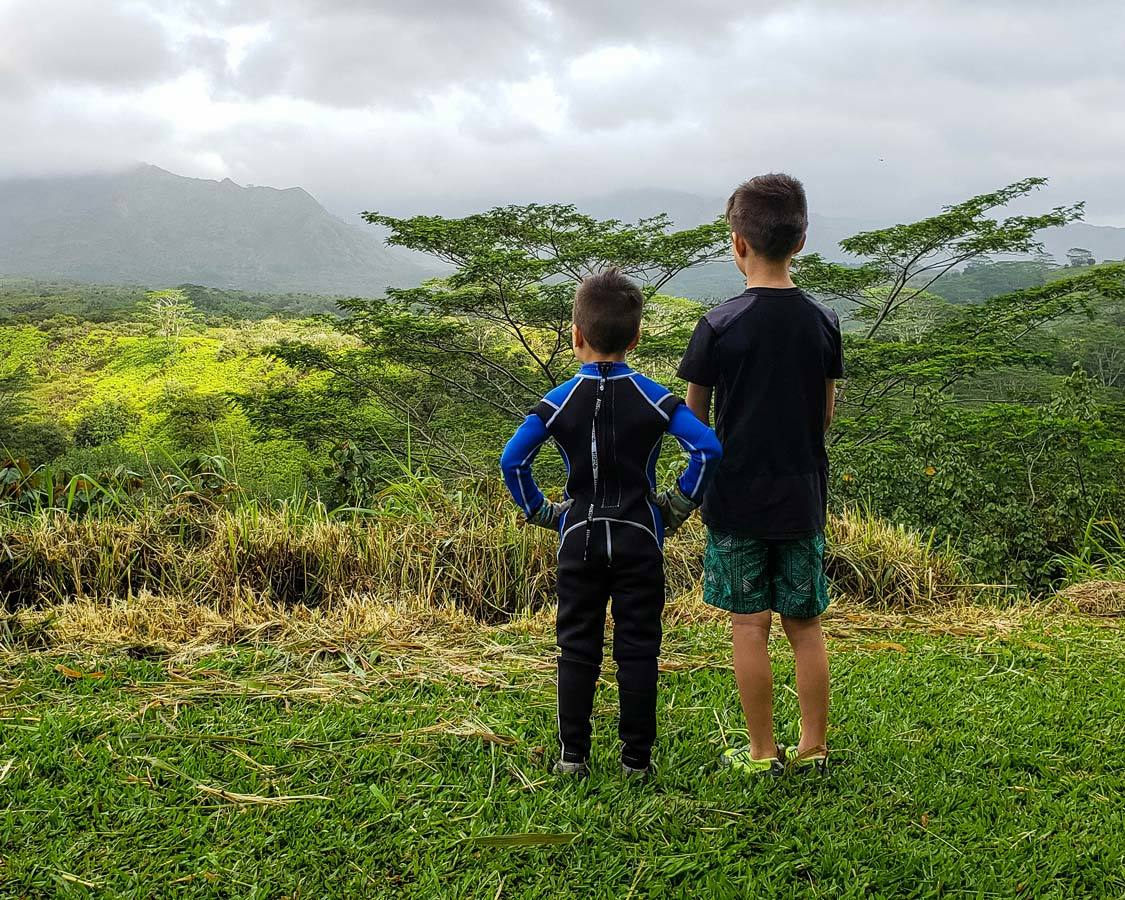 Waialeale Crater View Kauai Backcountry Adventures with kids